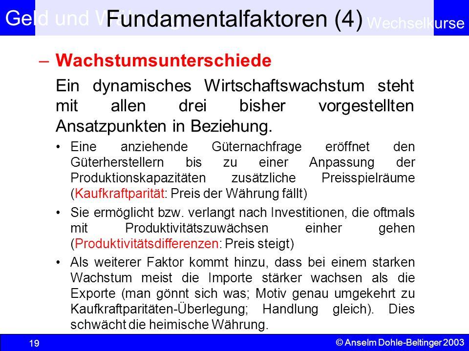Fundamentalfaktoren (4)