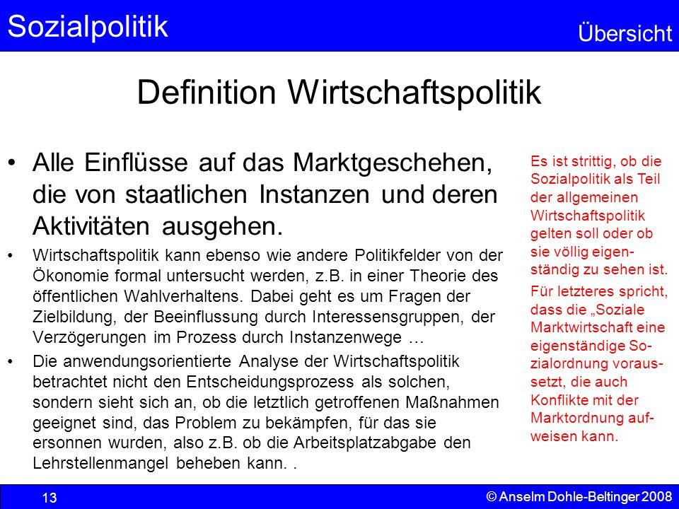Definition Wirtschaftspolitik