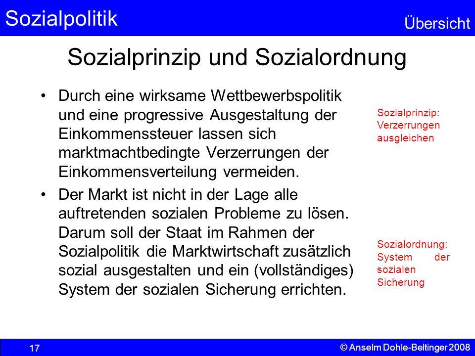 Sozialprinzip und Sozialordnung