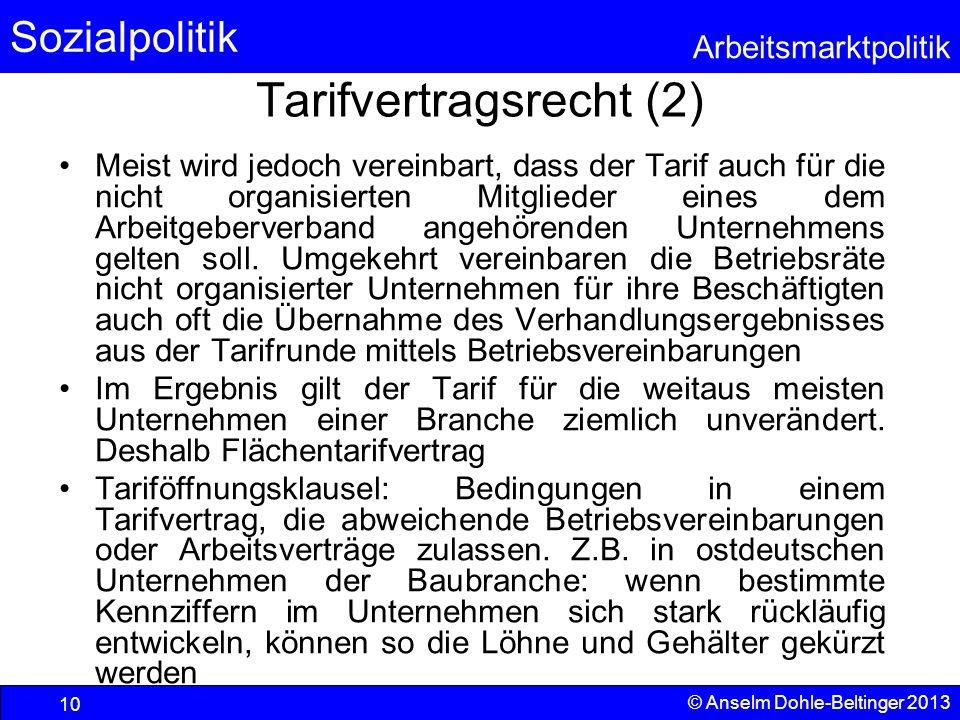 Tarifvertragsrecht (2)