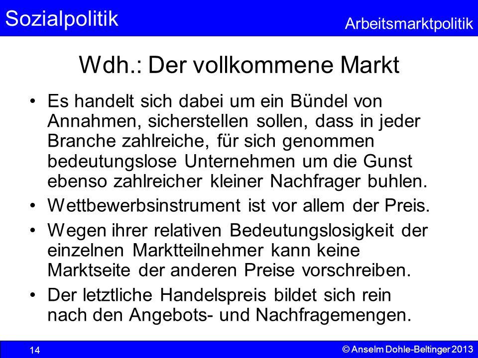 Wdh.: Der vollkommene Markt