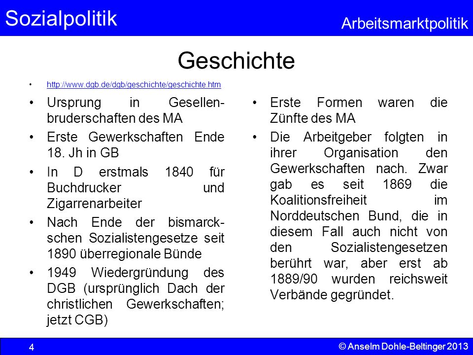 Geschichte Ursprung in Gesellen-bruderschaften des MA