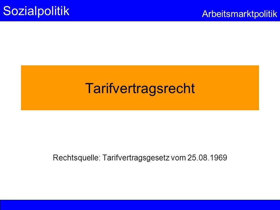 Rechtsquelle: Tarifvertragsgesetz vom 25.08.1969