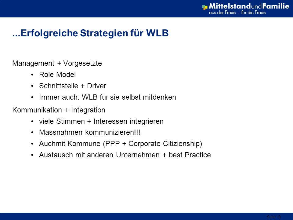 ...Erfolgreiche Strategien für WLB