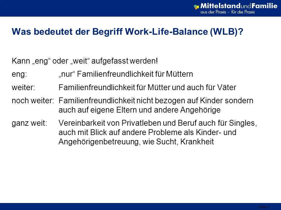 Was bedeutet der Begriff Work-Life-Balance (WLB)