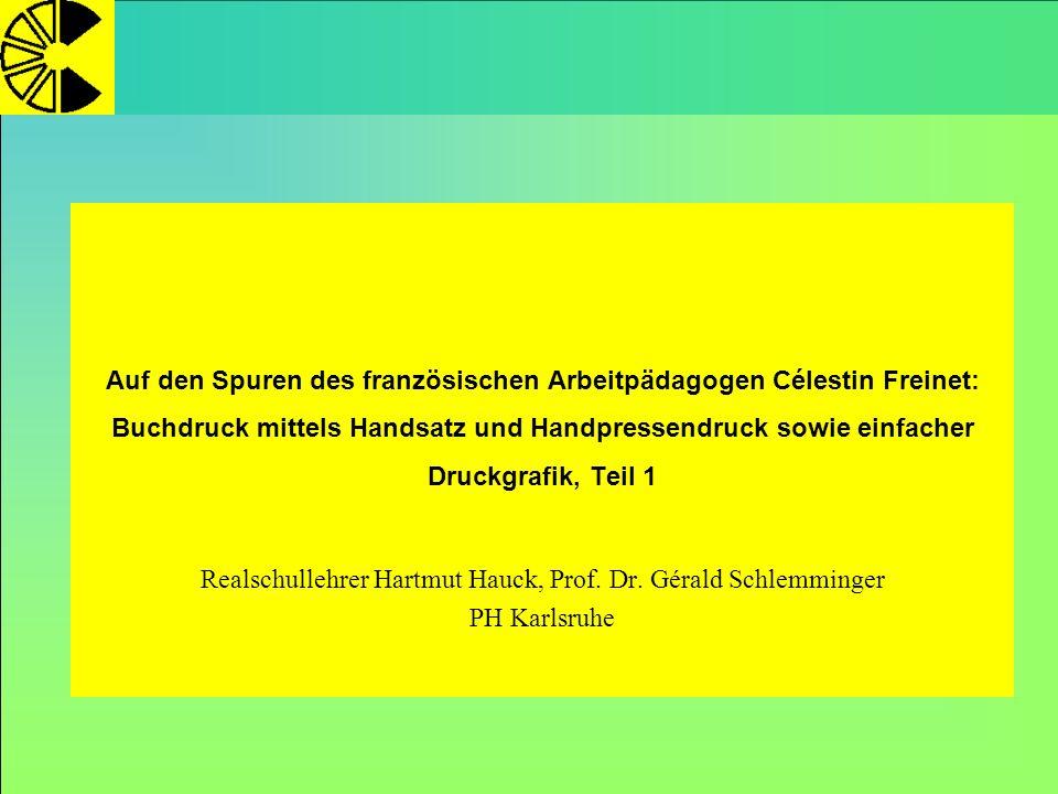Realschullehrer Hartmut Hauck, Prof. Dr. Gérald Schlemminger