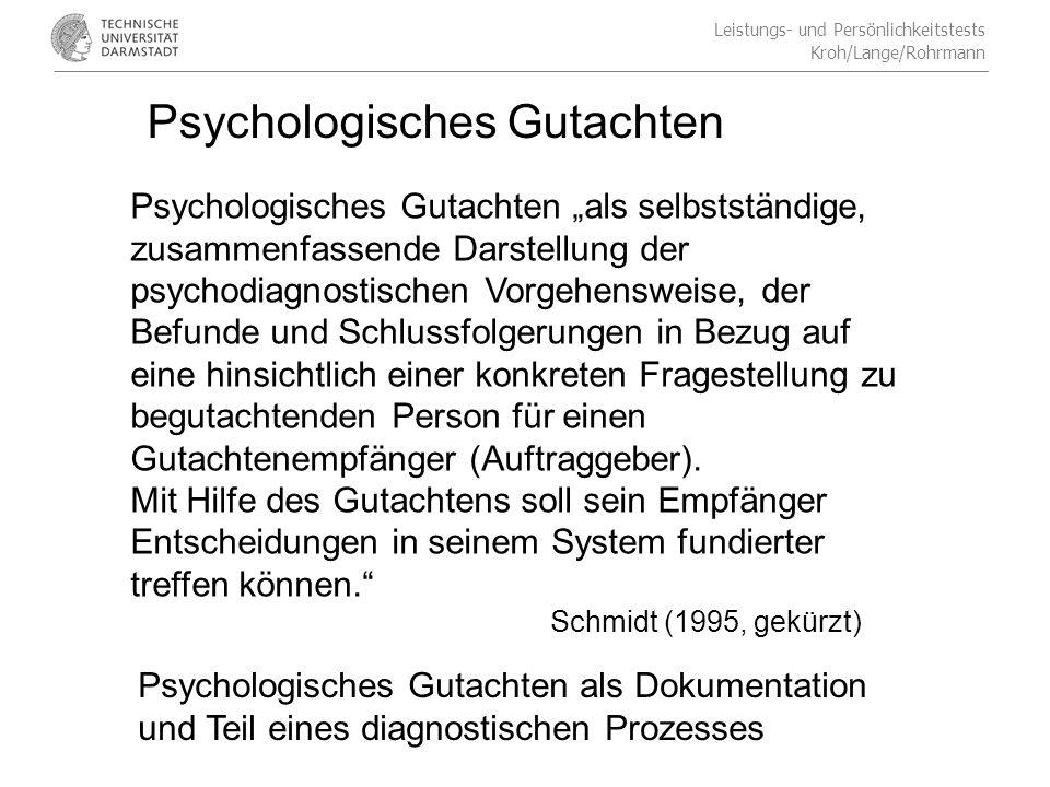 Psychologisches Gutachten