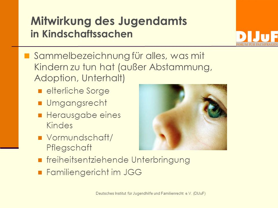 Mitwirkung des Jugendamts in Kindschaftssachen