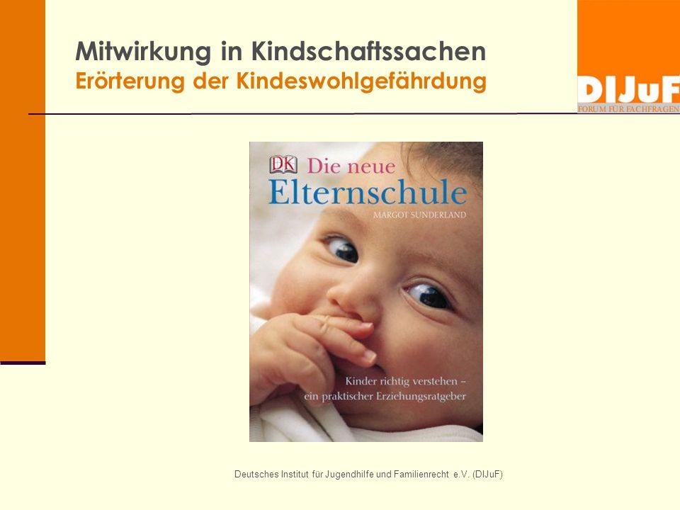 Mitwirkung in Kindschaftssachen Erörterung der Kindeswohlgefährdung