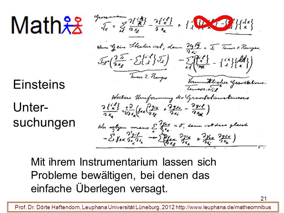 gehen mit um Einsteins Unter-suchungen