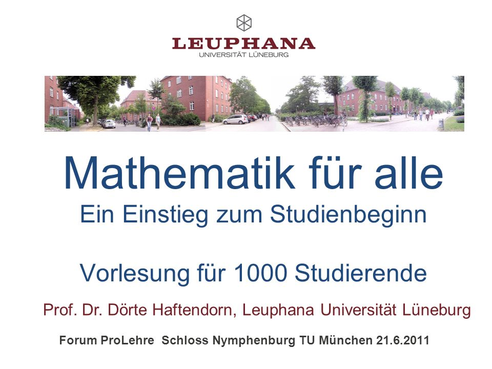 Forum ProLehre Schloss Nymphenburg TU München 21.6.2011