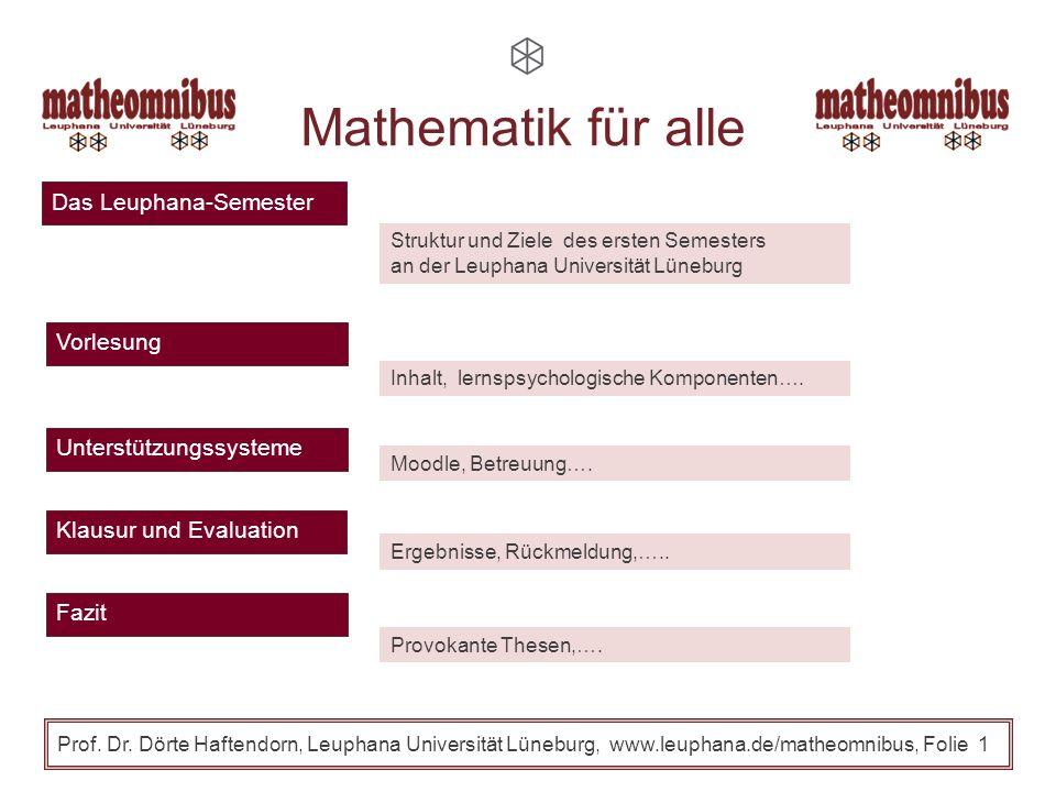 Mathematik für alle Das Leuphana-Semester Vorlesung