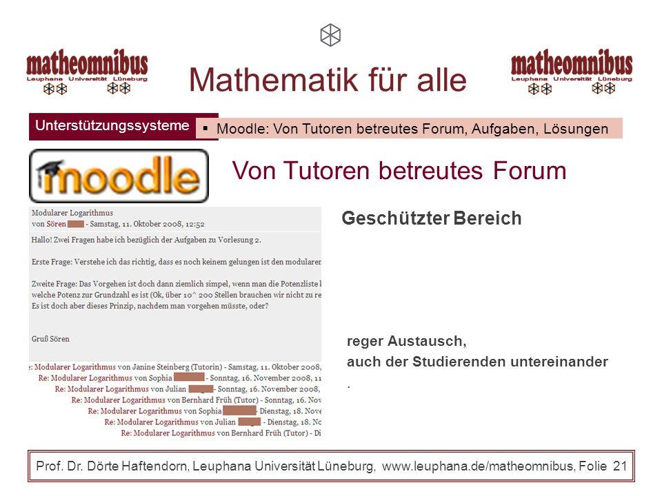 Mathematik für alle Von Tutoren betreutes Forum Geschützter Bereich