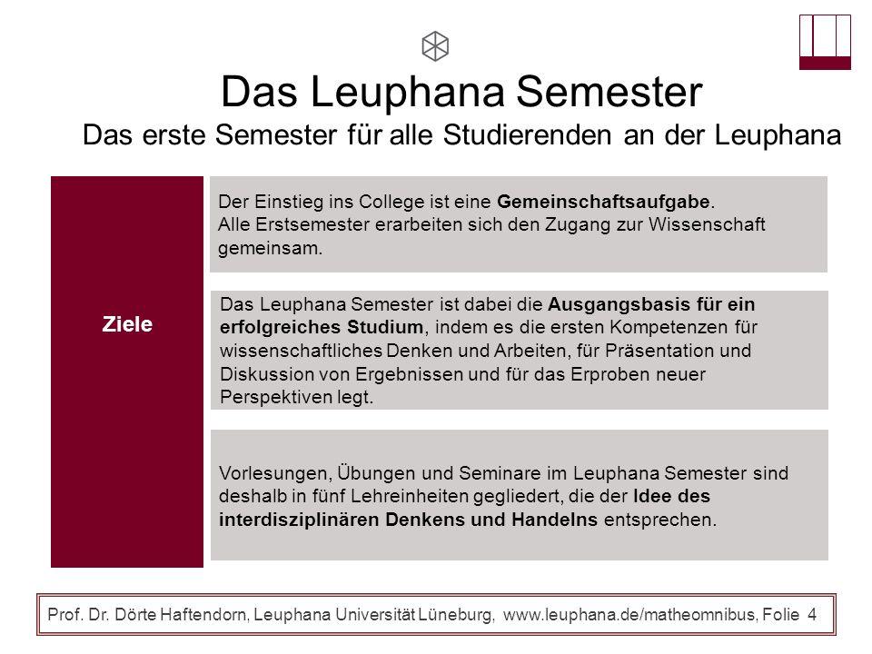 Das erste Semester für alle Studierenden an der Leuphana