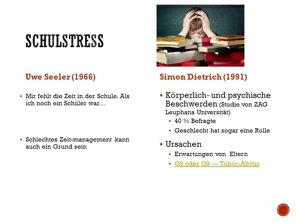 Schulstress Uwe Seeler (1966) Simon Dietrich (1991)
