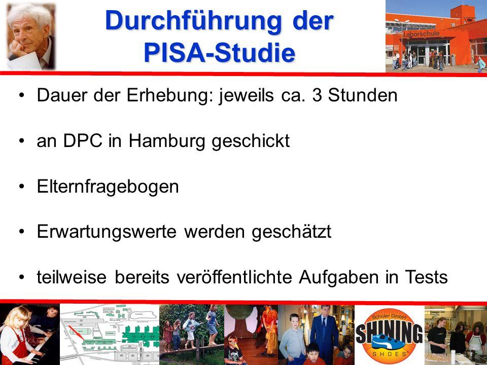 Durchführung der PISA-Studie