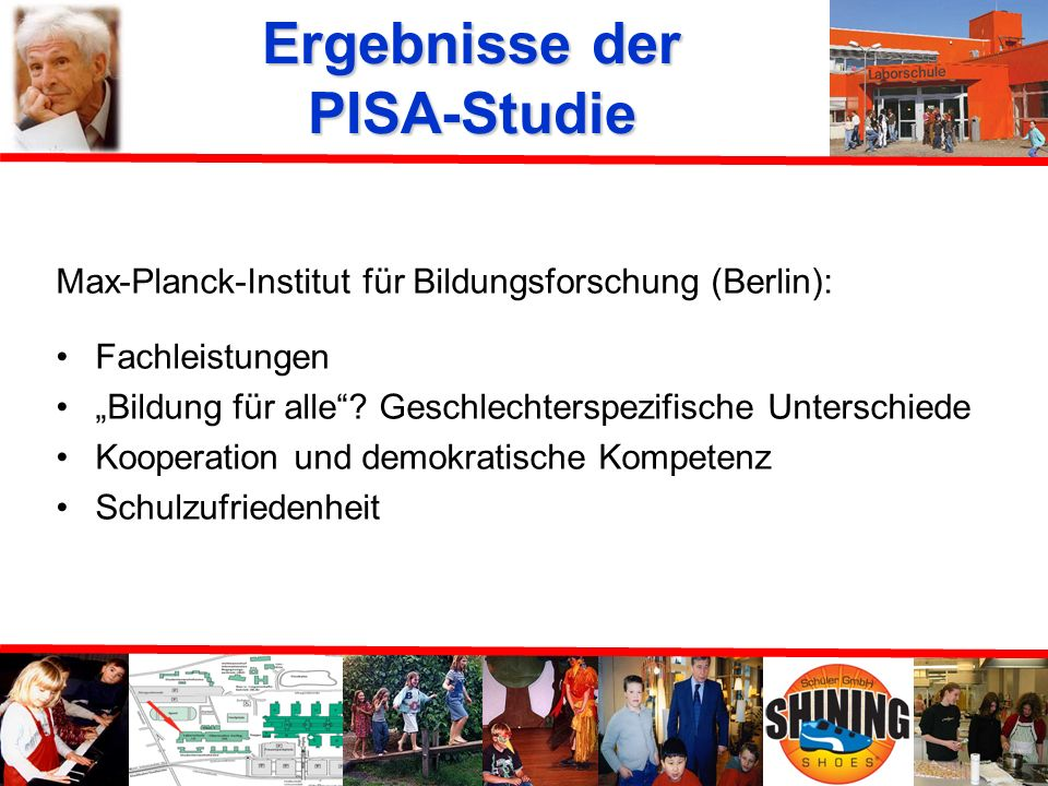 Ergebnisse der PISA-Studie