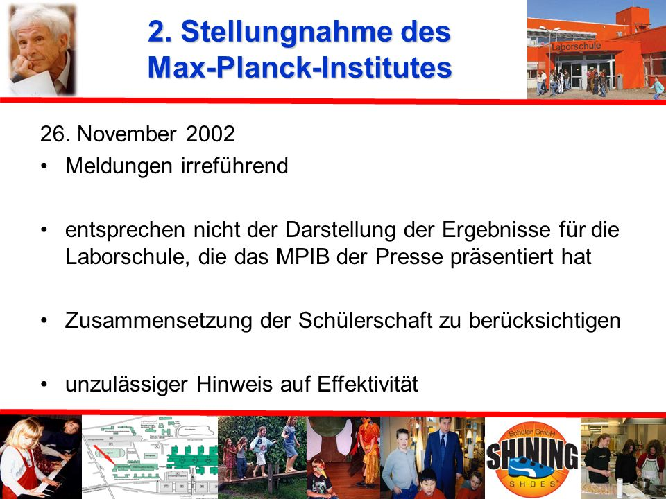 2. Stellungnahme des Max-Planck-Institutes
