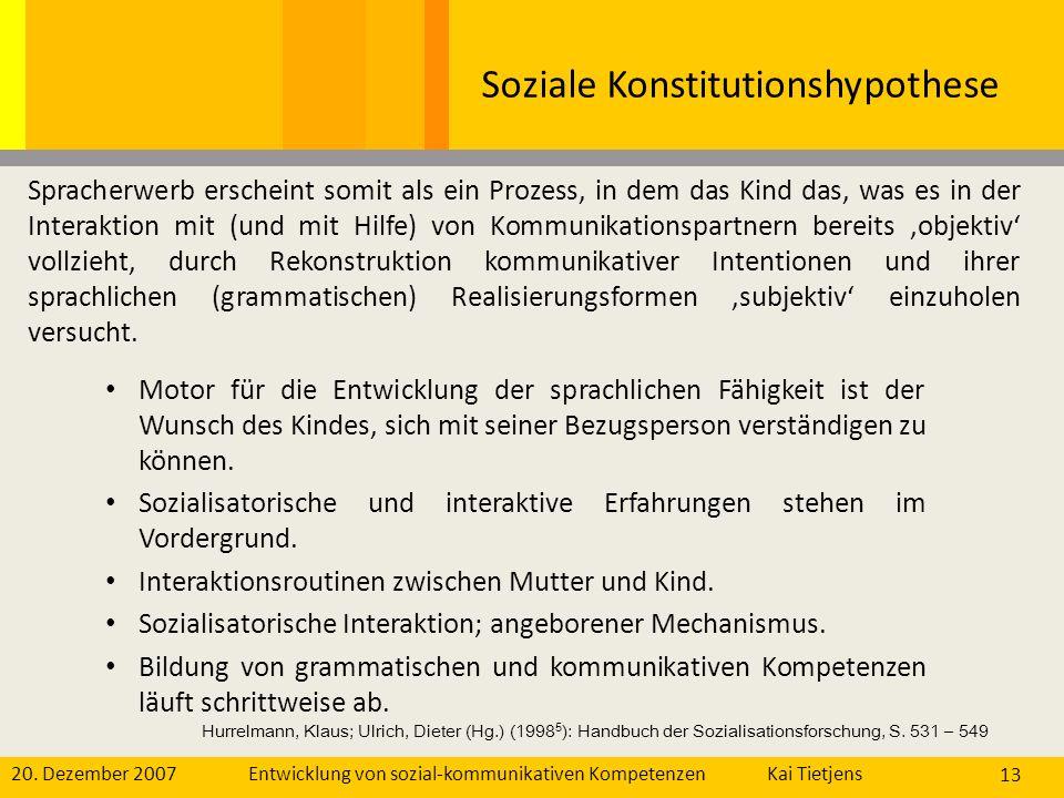 Soziale Konstitutionshypothese