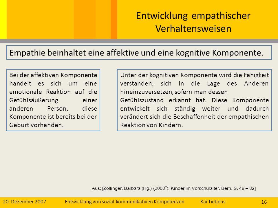 Entwicklung empathischer Verhaltensweisen