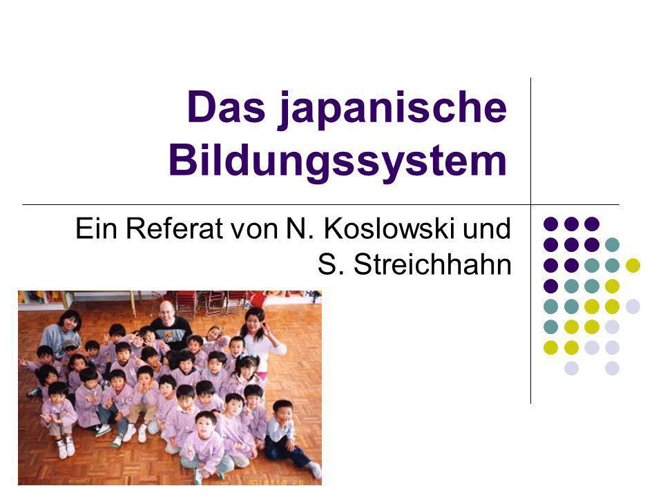 Das japanische Bildungssystem