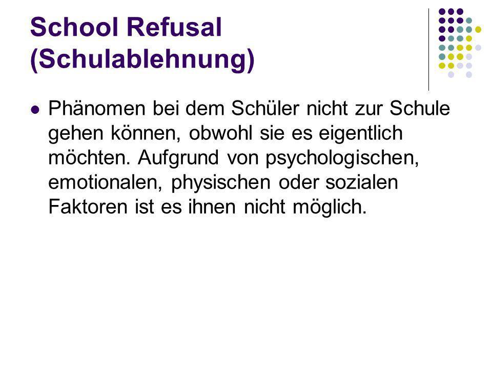 School Refusal (Schulablehnung)