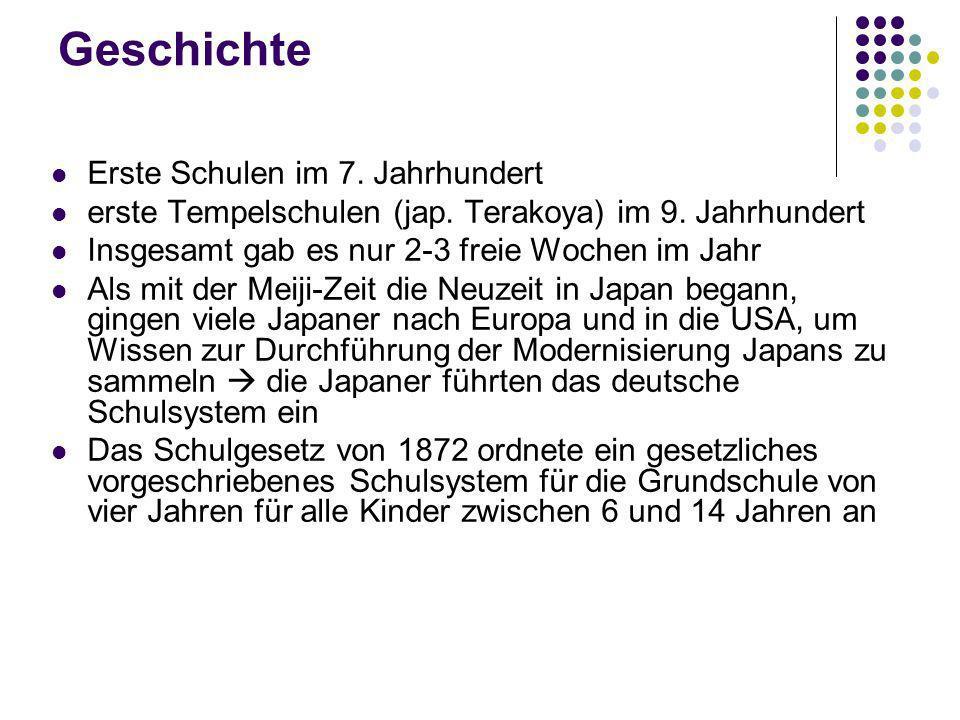 Geschichte Erste Schulen im 7. Jahrhundert