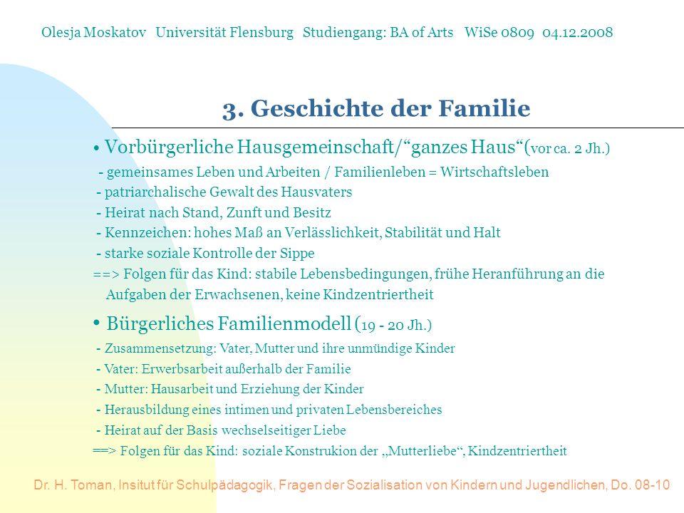 3. Geschichte der Familie