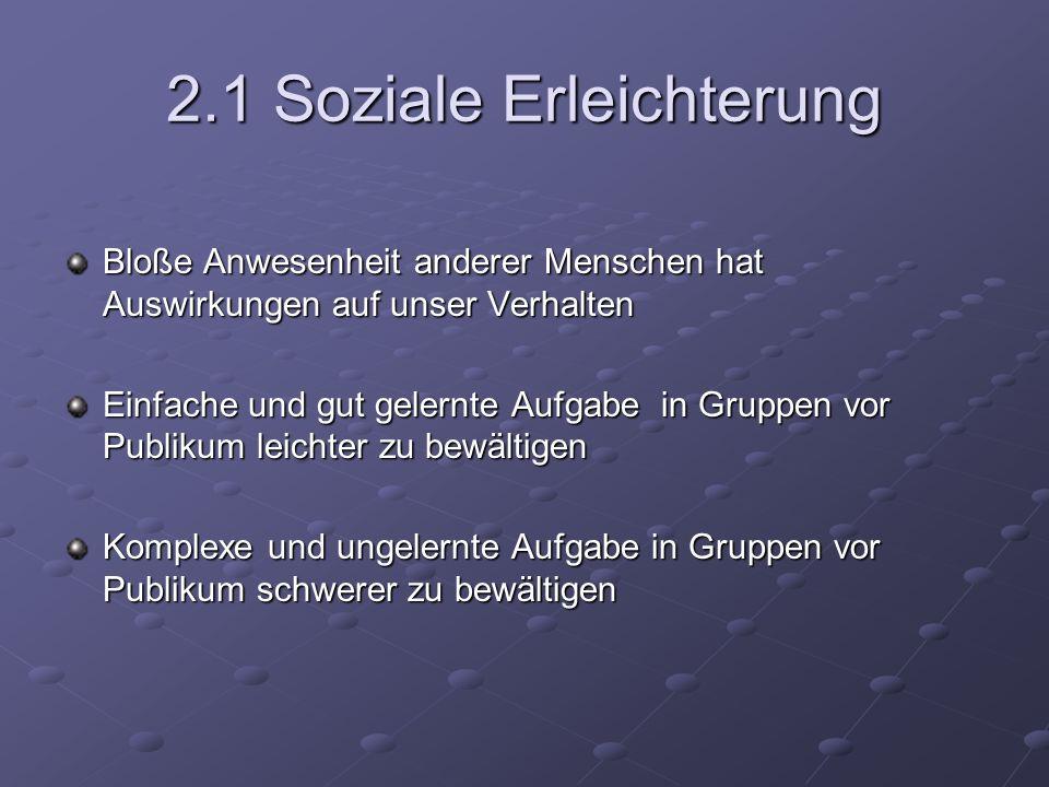 2.1 Soziale Erleichterung