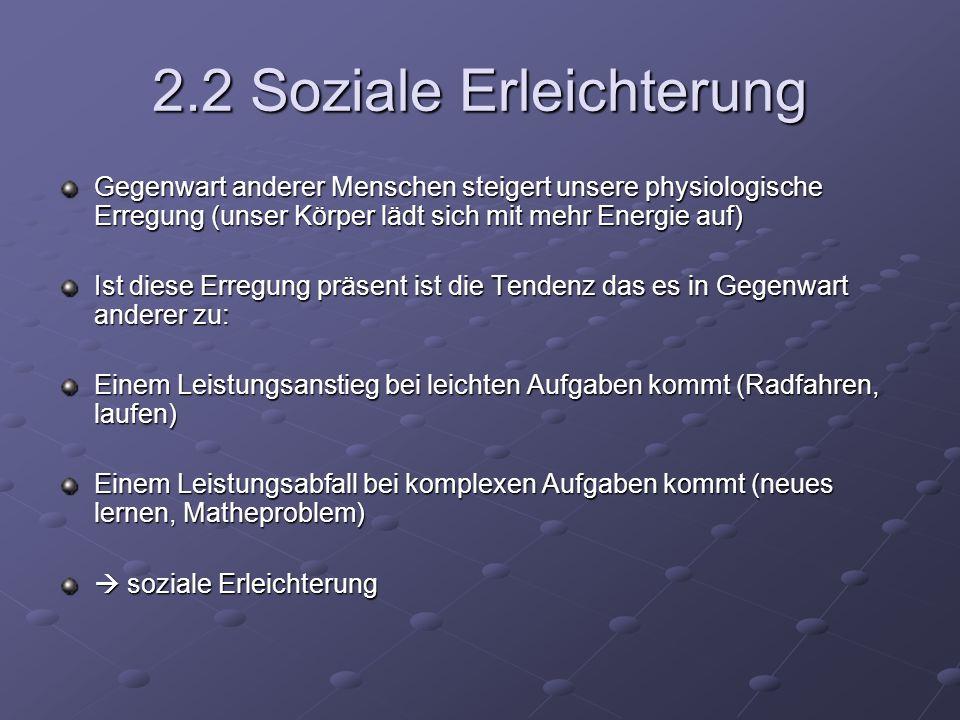 2.2 Soziale Erleichterung