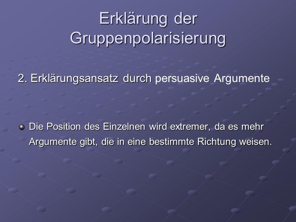 Erklärung der Gruppenpolarisierung