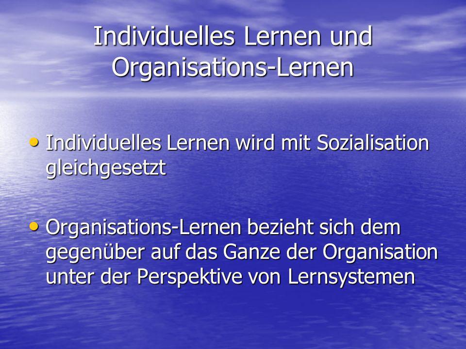 Individuelles Lernen und Organisations-Lernen