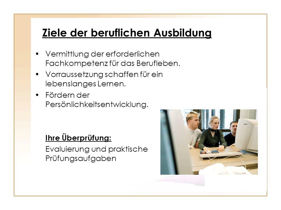 Ziele der beruflichen Ausbildung