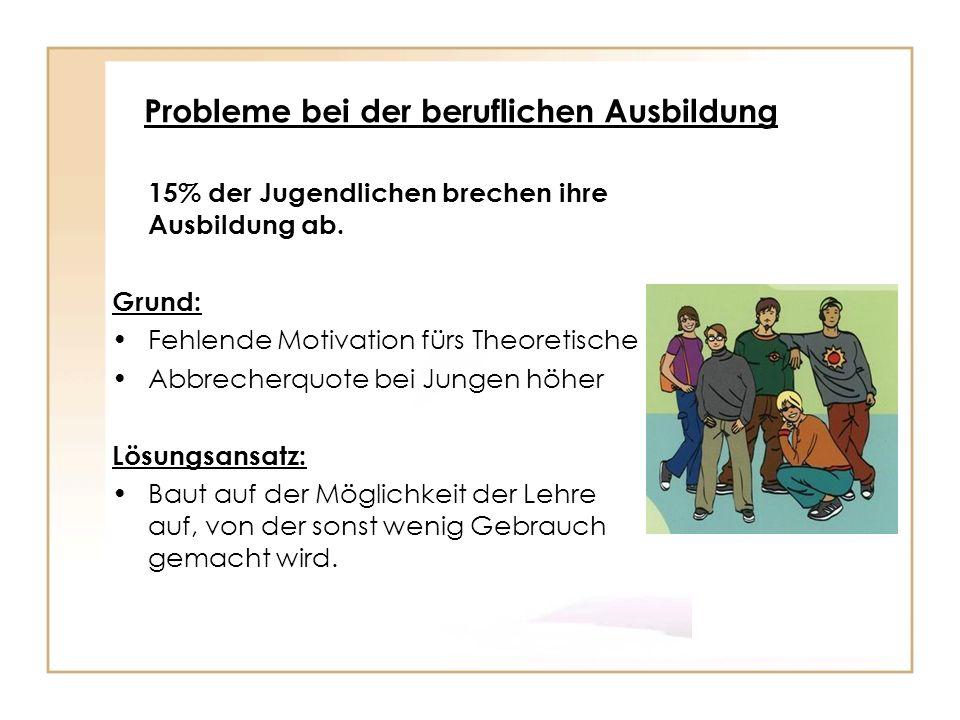 Probleme bei der beruflichen Ausbildung