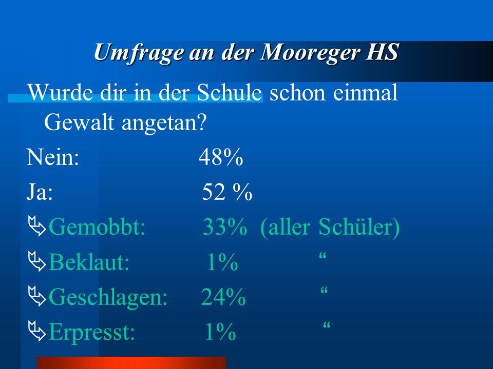 Umfrage an der Mooreger HS