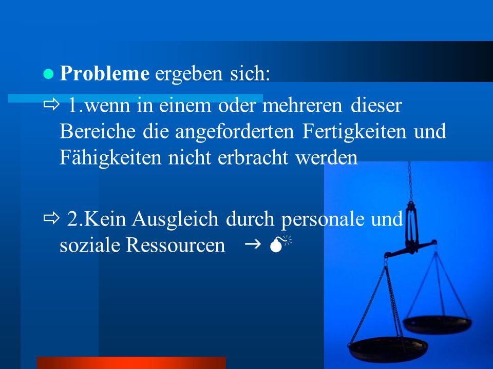 Probleme ergeben sich: