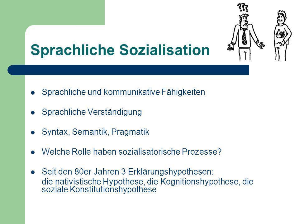 Sprachliche Sozialisation