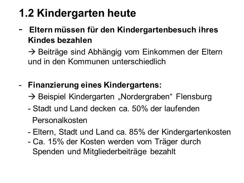 - Eltern müssen für den Kindergartenbesuch ihres Kindes bezahlen