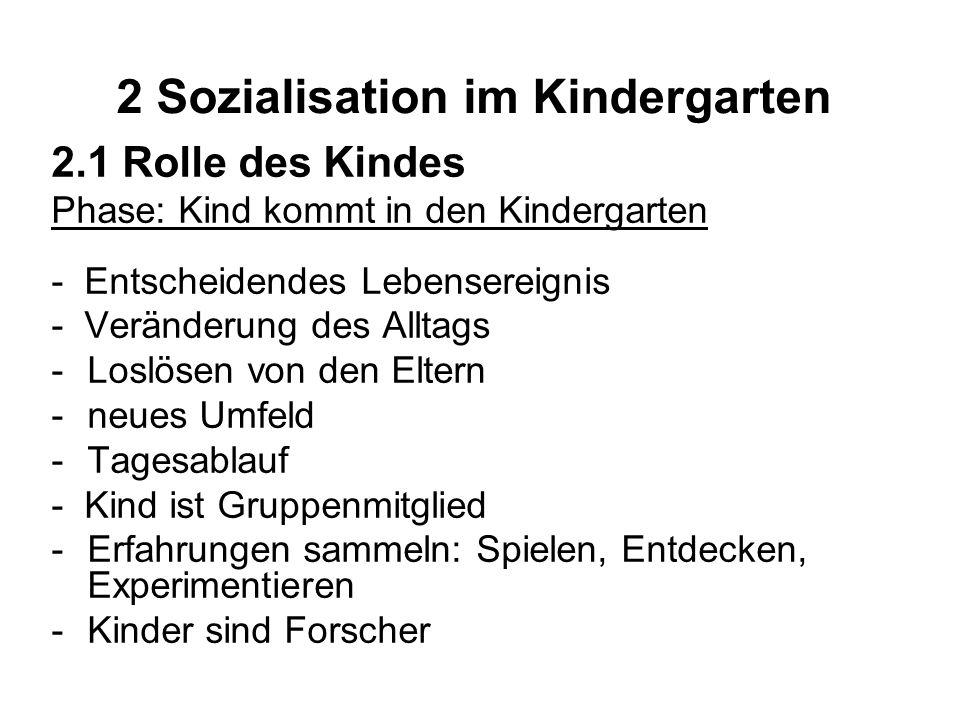 2 Sozialisation im Kindergarten