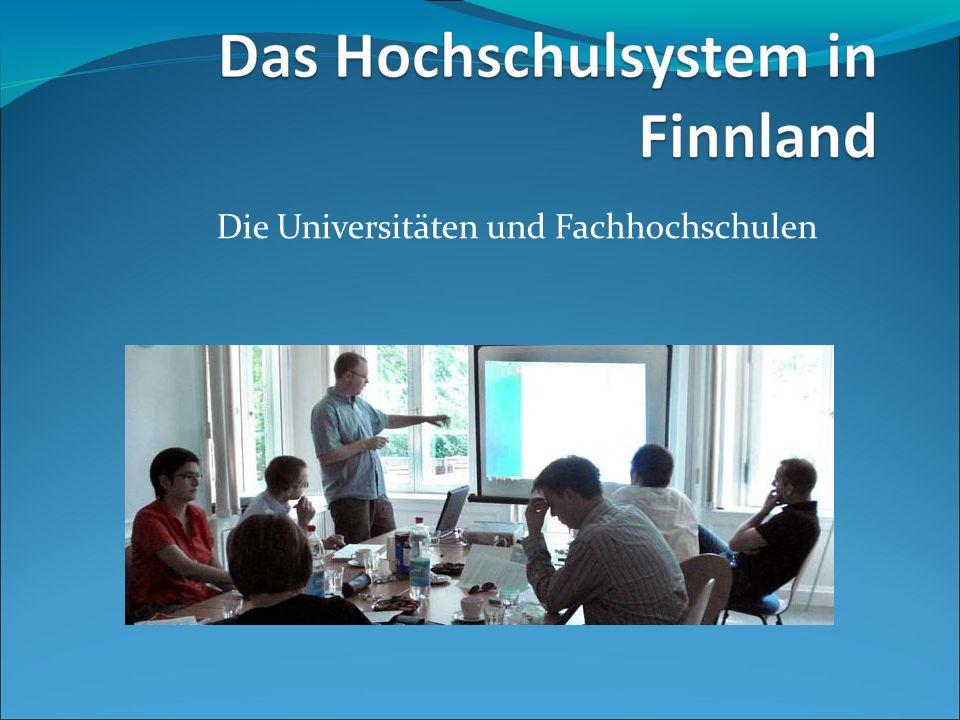 Die Universitäten und Fachhochschulen
