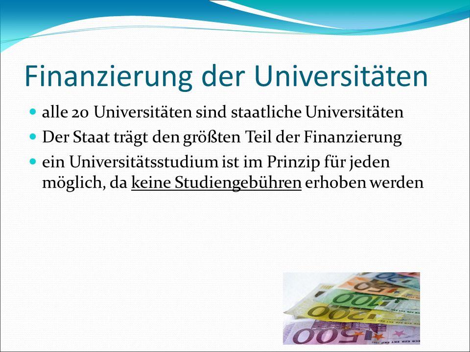 Finanzierung der Universitäten