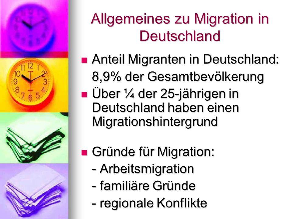 Allgemeines zu Migration in Deutschland