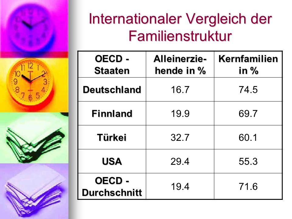 Internationaler Vergleich der Familienstruktur