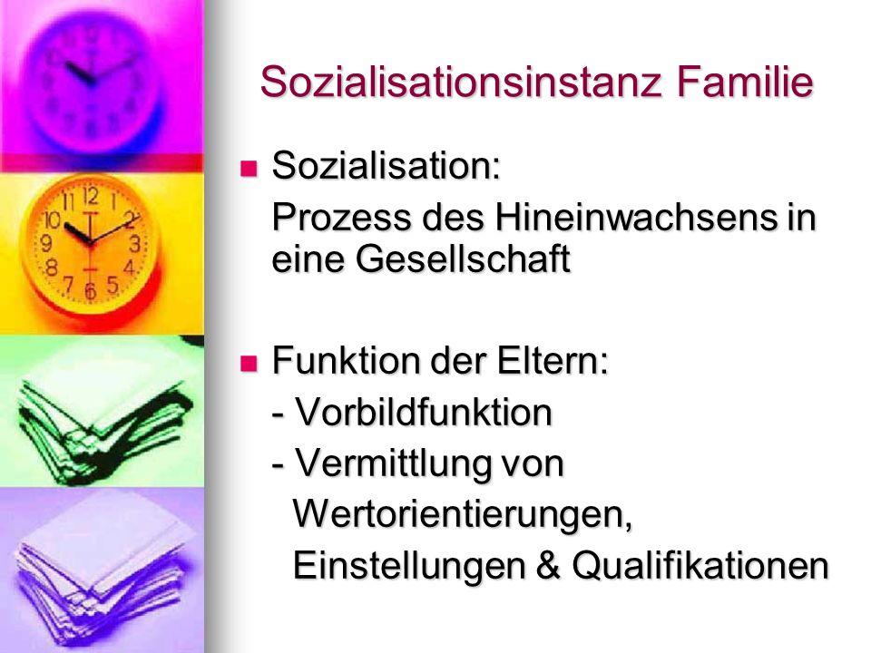 Sozialisationsinstanz Familie