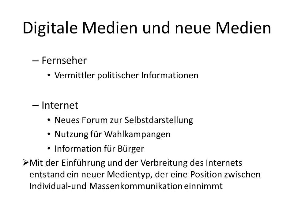 Digitale Medien und neue Medien