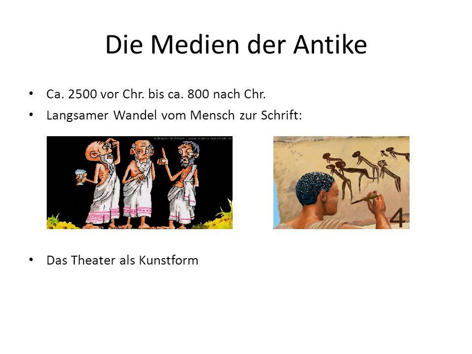 Die Medien der Antike Ca. 2500 vor Chr. bis ca. 800 nach Chr.