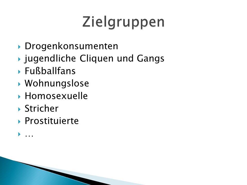 Zielgruppen Drogenkonsumenten jugendliche Cliquen und Gangs
