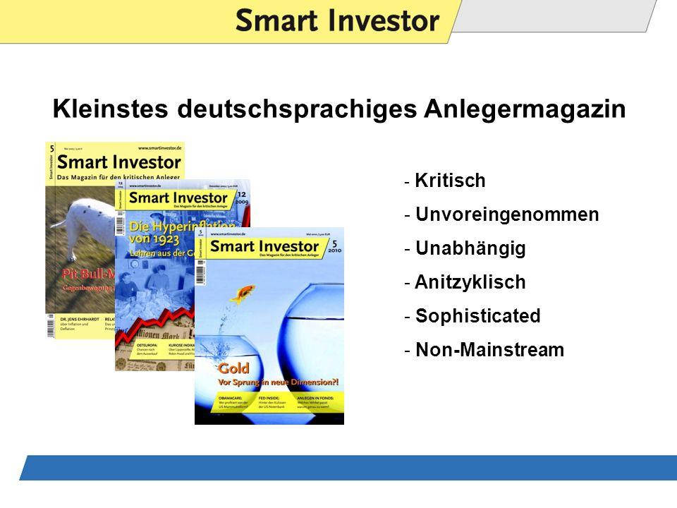 Kleinstes deutschsprachiges Anlegermagazin