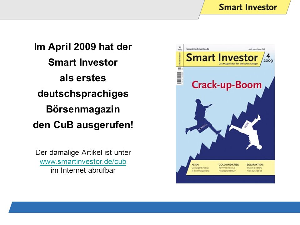 Im April 2009 hat der Smart Investor