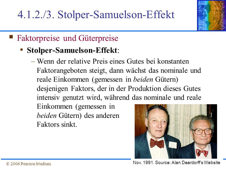 4.1.2./3. Stolper-Samuelson-Effekt